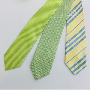 Ermenegildo Zegna Lot of 3 Mens Designer Silk Ties